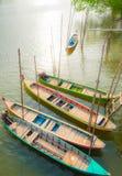 Resto delle barche sulla riva nella sera Fotografia Stock Libera da Diritti