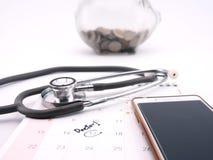 Resto di appuntamento di medico sul calendario Immagine Stock