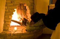 Resto e calore Fotografie Stock