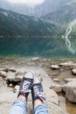 Resto e recreação em montanhas beaitiful Foto de Stock