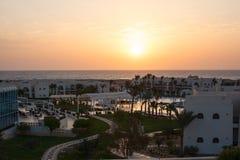Resto en el hotel, paisaje egipcio Foto de archivo libre de regalías