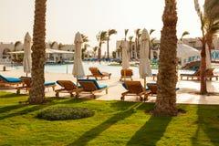 Resto en el hotel, paisaje egipcio Imagen de archivo libre de regalías