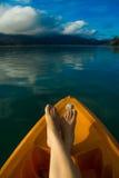 Resto en el lago Cheolan Fotos de archivo