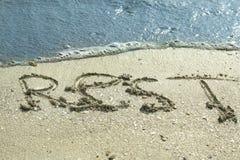 Resto en el mar Fotos de archivo libres de regalías
