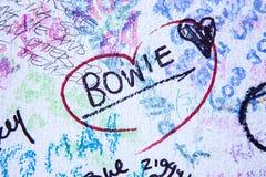 Resto en la paz David Bowie Imágenes de archivo libres de regalías