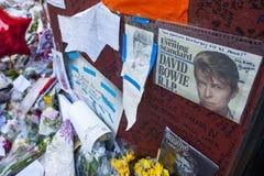 Resto en la paz David Bowie Foto de archivo libre de regalías