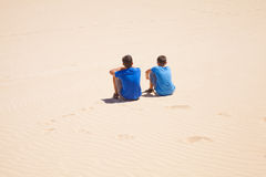 Resto en las dunas Fotos de archivo