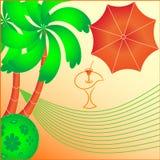 Resto en paraíso tropical. imagen de archivo