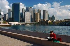 Resto en un puerto Foto de archivo libre de regalías