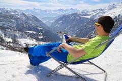 Resto in montagne Fotografie Stock