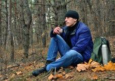 Resto nella foresta Fotografia Stock Libera da Diritti