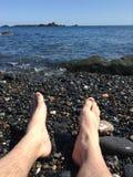Resto no mar Fotografia de Stock
