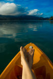 Resto sul lago Cheolan Fotografie Stock