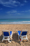 Resto sulla spiaggia Immagine Stock