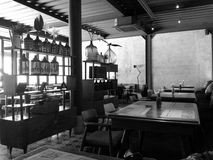Resto Two Stories BW Royalty Free Stock Photography
