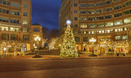 Reston Town Center Christmas Tree Holiday Virginia Royalty Free Stock Photography