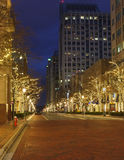 Reston Town Center Street Holiday Lights Virginia Royalty Free Stock Image
