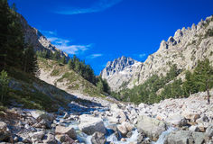 Restonica valley in Corsica Stock Photos