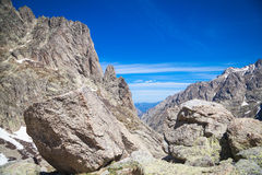 Restonica valley in Corsica Royalty Free Stock Image