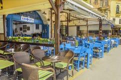 Restorant Amfora w Chania, Crete w Maju 21, 2013 Chania, Maj - 21 - Zdjęcie Stock