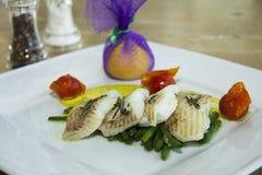 Restorant dish - halibut Royalty Free Stock Image