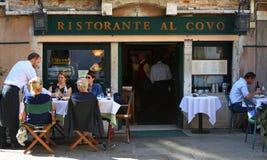Restorante Al Covo Busy Restaurant in the heart of Venice Italy Stock Images