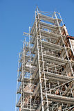 Restoration 2. Scaffolding work place at ancient building Royalty Free Stock Image