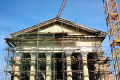 Restoration of an ancient classical building Royalty Free Stock Photography