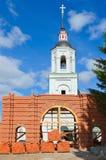 Restoration of Archangel Michael temple in Lazarevo near Murom, Royalty Free Stock Photo