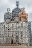 Restoration of Assumption Cathedral in Rostov Stock Photo