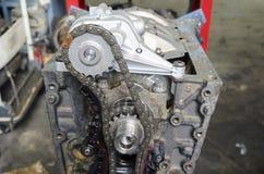 Restoration of automobile engine Stock Image