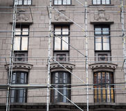 Restoration of a building Stock Images