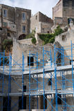 Restoration in Caveoso Sassi. Restoration work on a house in Caveoso Sassi in the Italian town of Matera in the region of Basilicata. The town is famous these Stock Photos