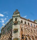 Restoration of the central hotel building in Kazan, Russia stock photo
