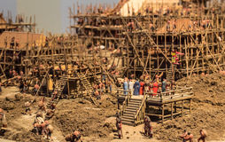 Restoration of Chinese Ancient construction site. Nanjing, china Royalty Free Stock Image