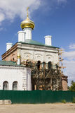 Restoration of the church, beheaded during the Soviet period Royalty Free Stock Photo