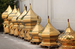 Restoration of church domes Royalty Free Stock Image