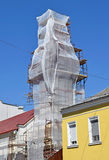 Restoration of the church tower. In the city Royalty Free Stock Photography