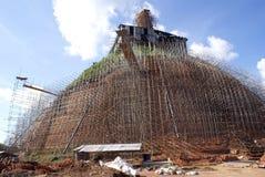 Restoration of dagoba. Dagoba in Anuradhapura, Sri Lanka Royalty Free Stock Photography
