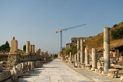Restoration in Ephesus Stock Photography