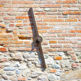 Restoration of the facade of an old italian masonry building wit Royalty Free Stock Photography