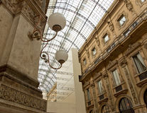 Restoration of the Galleria vittorio emanuele in milan Stock Images