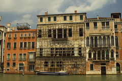 restoration on Grand Canal Venice Royalty Free Stock Photos