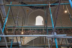 Restoration of the interior of the mosque Bibi Khanym Royalty Free Stock Image