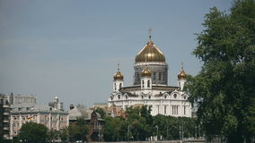 Restoration of the main dome of Cathedral of Christ the Saviour, Moscow, Russia stock video