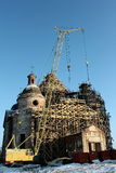 Restoration of the old church. Against the sky Royalty Free Stock Photography