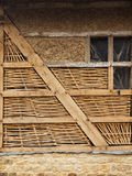 Restoration of old half-timbered building Royalty Free Stock Image
