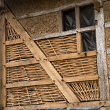 Restoration of old half-timbered building Stock Photography