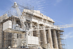 Restoration of Parthenon Royalty Free Stock Image