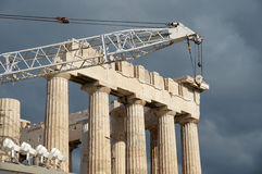 Restoration of Parthenon Stock Photos